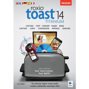Roxio Toast 14 Titanium - w/Blu-ray Video Disc Authoring Plug-in. The Ultimate media toolkit for Mac