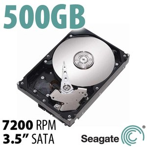 500GB Seagate Barracuda 3.5-inch SATA 6.0Gb/s 7200RPM Hard Drive with 16MB Cache