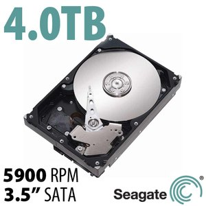 4.0TB Seagate Desktop HDD 3.5-inch SATA 6.0Gb/s 5900RPM Hard Drive + Software