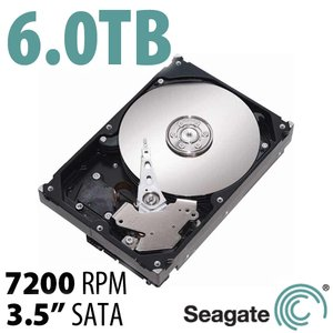 6.0TB Seagate Desktop HDD 3.5-inch SATA 6.0Gb/s 7200RPM Hard Drive with 128MB Cache