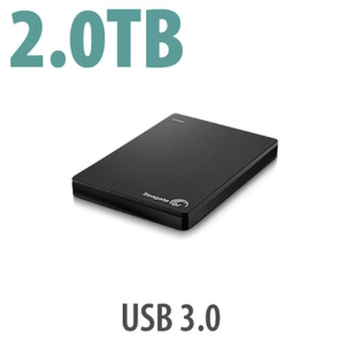 (*) Seagate 2.0TB Backup Plus Slim Portable Drive. Bus-powered, USB 3.0 interface.