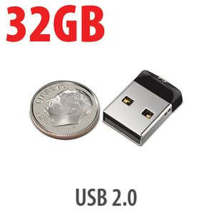 32GB SanDisk Cruzer Fit USB 2.0 Flash Drive. Ultra Compact, Plug & Play Portable.