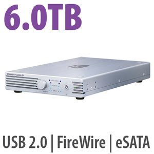 6.0TB Sonnet Technologies Fusion F3 Rugged & Portable 2-drive Hardware RAID Storage Solution