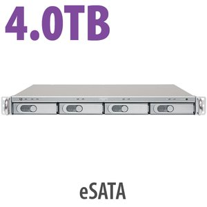4.0TB Sonnet Technologies Fusion R400P: Rackmount 4-drive SATA Storage Solution w/ Port Multiplier