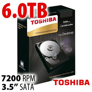 Toshiba 6.0TB X300 Internal 3.5-inch HDD