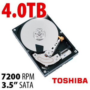 4.0TB Toshiba MD01ACA Series 3.5-inch SATA 6.0Gb/s 7200RPM Hard Drive with 128MB Cache.