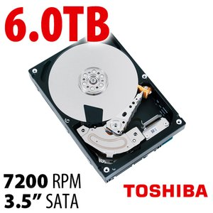 6.0TB Toshiba MD01ACA Series 3.5-inch SATA 6.0Gb/s 7200RPM Hard Drive with 128MB Cache.