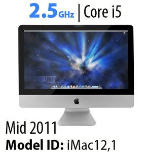 "Apple 21.5"" iMac (2011) 2.5GHz Core i5: Thunderbolt, 12GB RAM, 500GB HDD, SuperDrive. Used."