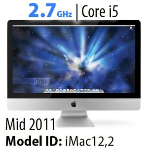 "Apple 27"" iMac (2011) 2.7GHz Core i5: Thunderbolt, 12GB RAM, 1.0TB HDD, SuperDrive. Used."