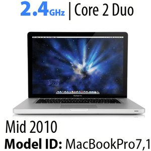 "Apple 13"" MacBook Pro 2.4GHz Core 2 Duo: 4GB RAM, 320GB HDD, SuperDrive. Used"