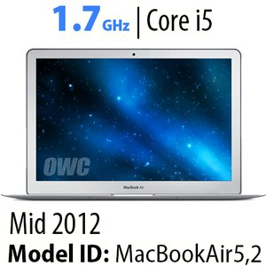 "Apple 13"" MacBook Air (2012) 1.7GHz Core i5: Thunderbolt, 4GB RAM, 120GB Aura 6G SSD. Used."