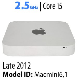 Apple Mac mini (2012) 2.5GHz Core i5: Thunderbolt, 8GB RAM, 500GB HDD