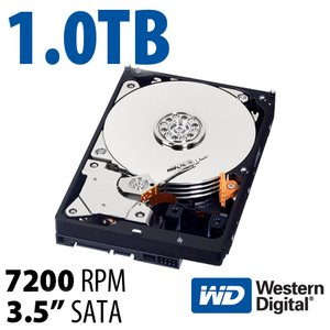 1.0TB WD Blue 3.5-inch SATA 6.0Gb/s 7200RPM Hard Drive with 64MB Cache