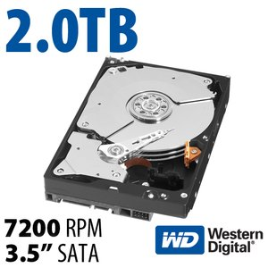 2.0TB WD Black 3.5-inch SATA 6.0Gb/s 7200RPM Hard Drive with 64MB Cache.