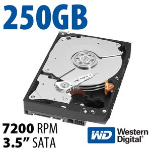 250GB WD Blue 3.5-inch SATA 6.0Gb/s 7200RPM Hard Drive with 16MB Cache