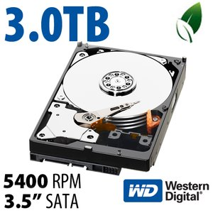 3.0TB WD Caviar Green 3.5-inch SATA 6.0GB/s IntelliPower Hard Drive with 64MB Cache