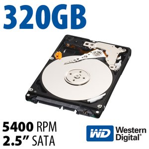 320GB WD Scorpio Blue 2.5-inch 9.5mm SATA 3.0Gb/s 5400RPM Hard Drive
