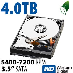 4.0TB WD Caviar Green 3.5-inch SATA 6.0Gb/s 5400-7200RPM Hard Drive with 64MB Cache
