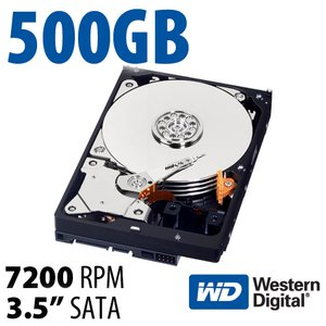 500GB WD Blue 3.5-inch SATA 6.0Gb/s 7200RPM Hard Drive with 16MB Cache.
