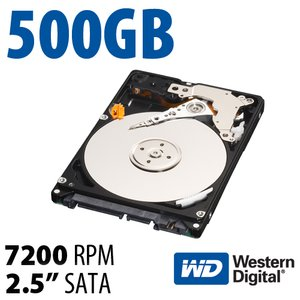 500GB WD Black 2.5-inch 9.5mm SATA 6.0Gb/s 7200RPM Hard Drive with 32MB Cache