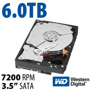 6.0TB WD Black 3.5-inch SATA 6.0Gb/s 7200RPM Hard Drive with 128MB Cache