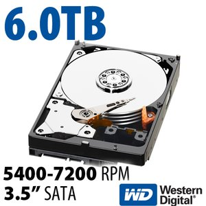 6.0TB WD Red 3.5-inch SATA 6.0Gb/s 5400-7200RPM Hard Drive with 64MB Cache