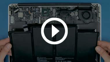 Batterij installeren voor Mid 2012 13-inch MacBook Air
