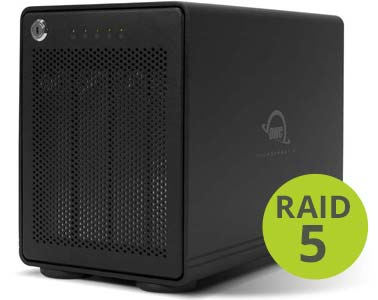 OWC ThunderBay 4 RAID with Thunderbolt 3