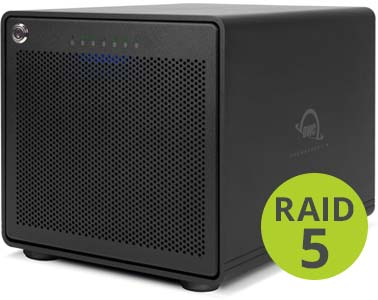 OWC ThunderBay 6 with Thunderbolt 3 RAID 5 Edition