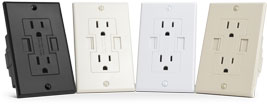 Power2U White, Black, Light Almond, Ivory