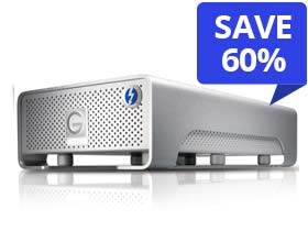 2.0TB G-Technology G-DRIVE PRO with Thunderbolt
