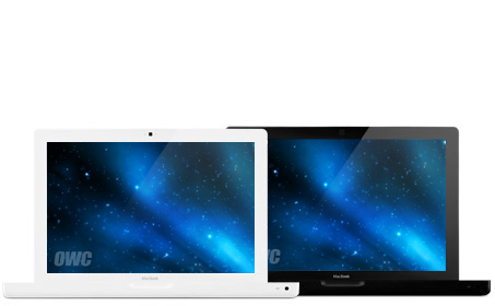 Macbook White and Black