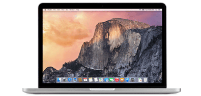 Yosemite on Apple MacBook Pro Retina