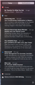Notification Center Today Info