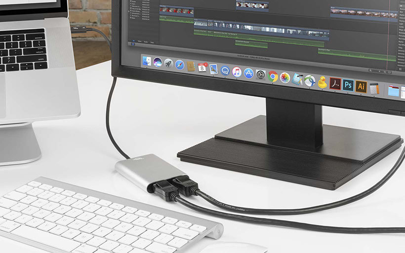 OWC Dual Display Adapter - Thunderbolt 3, DisplayPort, HDMI
