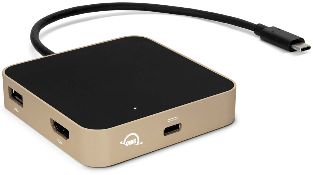 USB-C Travel Dock Gold