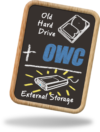 Old Hard Drive + OWC = Inexpensive External Storage