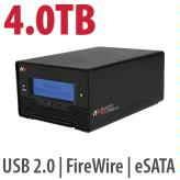 4.0TB Bus-Powered, Portable<BR>FireWire 800/USB3/eSATA