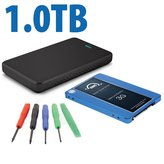 1.0TB OWC 3G SSD with tools and Transfer/reuse enclosure