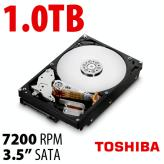 1.0TB Toshiba 7200RPM HDD with 32MB Cache