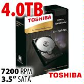 Toshiba 4.0TB X300 Internal 3.5-inch HDD 7200RPM 6Gb/s