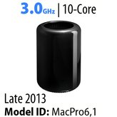 Apple Mac Pro 2013/Current<BR>3.0GHz <i>10-Core</i> |  D500 Vid x 2