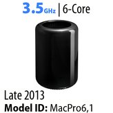 Apple Mac Pro 2013/Current<BR>3.5GHz 6-Core |  D500 Vid x 2