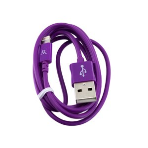 Acoustic Research .9M Lightning Cable, Purple, MFi Certified
