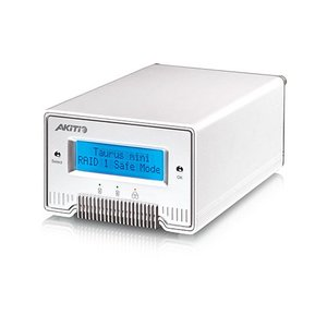 2.0TB (1TB x 2) AKiTiO Taurus Mini Super-S3 LCM Portable Dual-Bay RAID Storage Solution