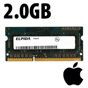 (*) 2.0GB Apple-Elpida Factory Original PC12800 DDR3L 204 Pin CL11 1600MHz SO-DIMM Module