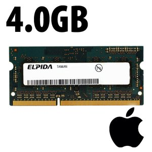 (*) 4.0GB Apple-Elpida Factory Original PC12800 DDR3L 204 Pin CL11 1600MHz SO-DIMM Module *Used / Pu