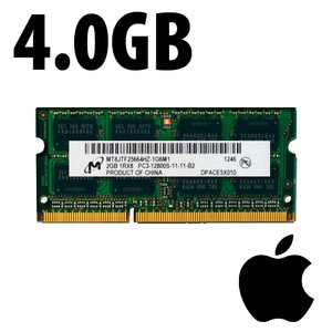(*) 4.0GB Apple-Micron Factory Original PC12800 DDR3L 204 Pin CL11 1600MHz SO-DIMM Module *Used / Pu