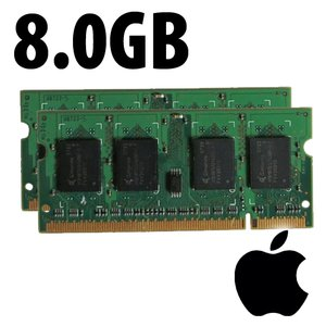 (*) 8.0GB (2x 4GB) Apple-Major Brand Original PC12800 DDR3L 204 Pin CL11 1600MHz RAM