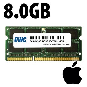 (*) 8.0GB Apple-Micron Factory Original PC3-14900 DDR3 204 Pin CL11 1867MHz SO-DIMM Module